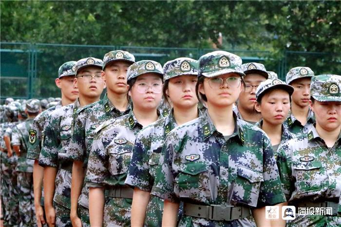 组图 直击广饶一中军训现场 感悟青春力量